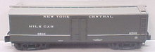 Lionel NYC 40'  Milk express  reefer with internal mile tanks,  3 rail