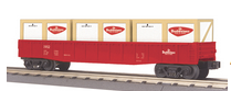 MTH Railking Budweiser Gondola with crates, 3 rail