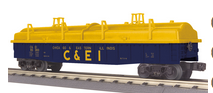 MTH Railking C&EI Gondola with cover, 3 rail