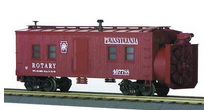 MTH Railking PRR Rotary snow plow , 3 rail