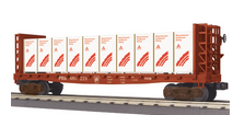 MTH Railking PRR bulkhead flat car with Weyerhaeuser lumber load, 3 rail