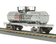 MTH Railking Coors Light  chrome finish Tank Car, 3 rail