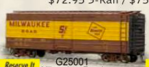 Weaver MILW ribbed side box car, Spartan Easy Load, ylw stripe