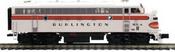 Pre-order for MTH Premier  CB&Q (Burlington)  F-7A  diesel, 2 rail, DC, DCC. proto 3.0