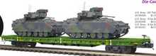 pre-order for MTH Premier set of 4 US army flat cars with Bradley Fighting  vehicles, 3 rail