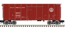 Pre-Order for Atlas O B&O (box car red, small letters)  40' wagon top box  car