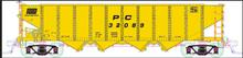 Atlas O PC m/w service (yellow)  H21a 4 bay hopper, 3 rail or 2 rail