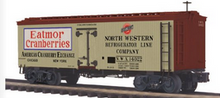 Pre-order for MTH Premier Eatmoor Cranberries 36' wood reefer, 3 rail