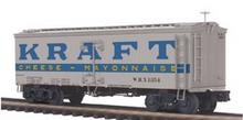 MTH Premier Kraft Cheese-Mayo 36' wood reefer, 3 rail