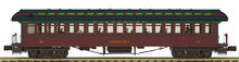 Pre-order for MTH Premier Strasburg RR  3  car 1890's style wood 64' passenger coach set, 3 rail