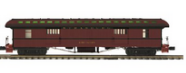 MTH Premier Strasburg RR 1890's style wood 64' passenger  3 car set..baggage, combine, and obs car