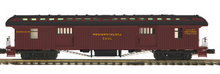 Pre-order for MTH Premier PRR 1890's style wood 64' passenger  3 car set..baggage, combine, and obs car