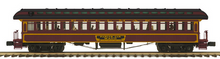 Pre-order for MTH Premier PRR  3  car 1890's style wood 64' passenger coach set, 3 rail