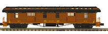 Pre-order for MTH Premier Empire State Express (NYC) 1890's style wood 64' passenger  3 car set..baggage, combine, and obs car