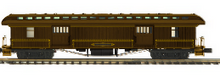 Pre-order for MTH Premier Central Pacific 1890's style wood 64' passenger  3 car set..baggage, combine, and obs car