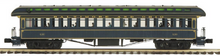 Pre-order for MTH Premier Central Pacific 1890's style wood 64' passenger coach, 3 rail