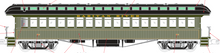 PDT EXCLUSIVE  MTH Premier Raritan River open vestibule 64' wood passenger coach,  2 rail or 3 rail