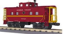 Pre-order for MTH Railking scale Lehigh Valley (red)  Center Cupola  Northeastern style Caboose, 3 rail