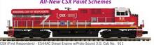 Pre-order for MTH Premier CSX (1st Responders)  ES-44, 3 rail, P3.0