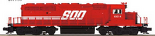 MTH Premier SOO (red) SD40-2 , 3 rail, P3.0