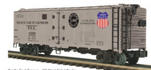 Pre-order for MTH Premier PFE (silver) 40' steel reefer, 3 rail