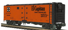Pre-order for MTH Premier Santa Fe  (El Capitan) 40' steel reefer, 3 rail