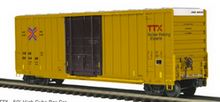 Pre-order for MTH Premier TTX (smaller modern logo) 50' Hy-cube box car, 3 rail