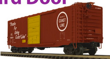 Pre-order for MTH Premier ACL (Thanks for Using...) PS-1  50' box car, 3 rail