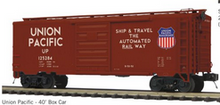 Pre-order for MTH Premier UP (tuscan, Automated rwy) PS-1  40' box car, 3 rail