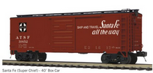 Pre-order for MTH Premier Santa Fe  (tuscan, 1950's) PS-1  40' box car, 3 rail