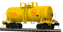 Pre-order for MTH Premier Shell 34' Beer Can tank car, 3 rail