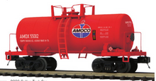 Pre-order for MTH Premier Amoco 34' Beer Can tank car, 3 rail