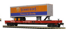 Pre-order for MTH Premier Schneiders 40' Trailer  CP rail 50' flat car, 3 rail