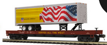 Pre-order for MTH Premier UP 40' Trailer  UP  50' flat car, 3 rail