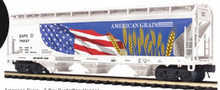 Pre-order for MTH Premier  American Grain  3 bay centerflow covered hopper car, 3 rail