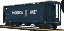 Pre-order for MTH Premier  Morton Salt Cylindrical covered hopper car, 3 rail