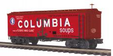 MTH Premier Columbia Soup 36' wood reefer,  3 rail