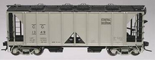 Atlas O Central of Georgia ACF 34' AC-2 Covered Hopper car, 3 rail or 2 rail