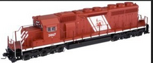 Atlas O CNJ (red baron) SD-40,  3 rail, TMCC