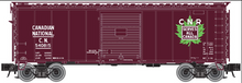 Atlas O CN (maple leaf)  40' 1940's-70's box car,  3 rail or 2 rail