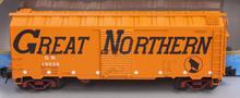 Atlas O  special run GN (orange,large letters) 1937 style AAR 40' steel box car, 3 rail or 2 rail