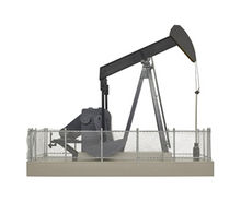 Atlas O (Walthers)  O gauge Operating Oil Well pump, black
