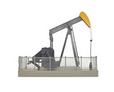 Atlas O (Walthers)  O gauge Operating Oil Well pump, black/orange