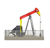 Atlas O (Walthers)  O gauge Operating Oil Well pump, red with birds eye