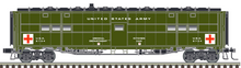 Pre-order Atlas O Troop Hospital car, new road numbers, 3 rail or 2 rail