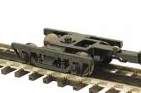 MTH 2 rail  diecast/sprung late 1800's woodside passenger car trucks  (Pair)