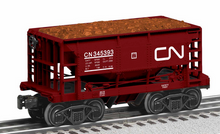 Lionel  set of 6 Canadian National Ore cars, 3 rail