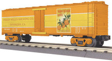 MTH Rail King Orange Blossom Amber Modern Reefer, 3 rail