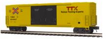 MTH Premier TTX 50' double plug door Box car, 3 rail