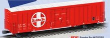 "Pre-order for Lionel O scale Santa Fe  60'  Bunkerless reefer  ""Beer Car"", 3 rail,"
